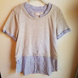 POSTAGE STAMP (ANTHRO) Preppy Sweater Blouse
